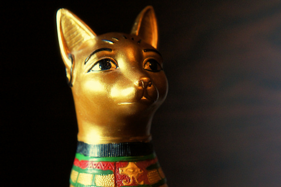 Ägyptische Katzen-Statue: Kopf