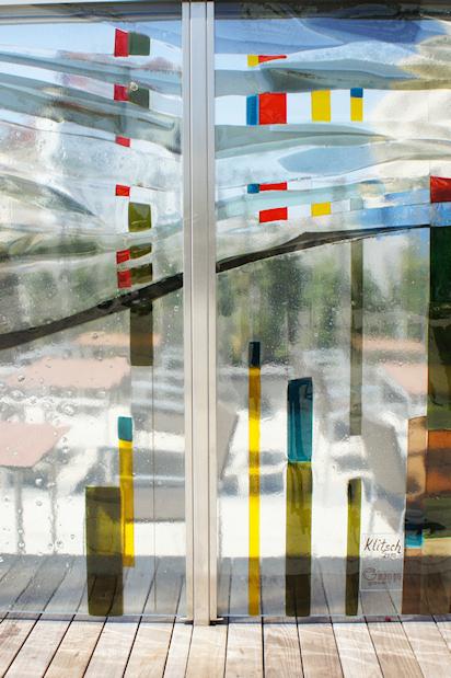 Bahnhof St. Pölten Glas Paravent Glasart Klitsch