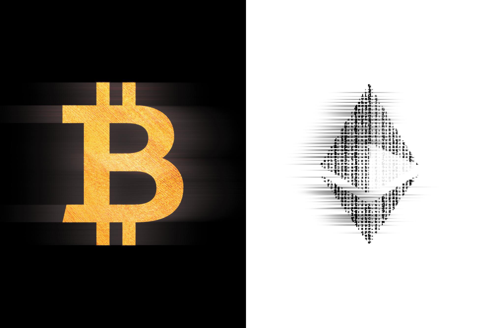 Bitcoin Ethereum Cryptoart NFT