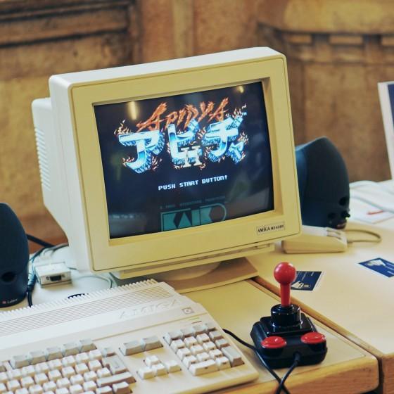 Das Spiel Apidya auf dem Amiga 500 @ Game City 2014