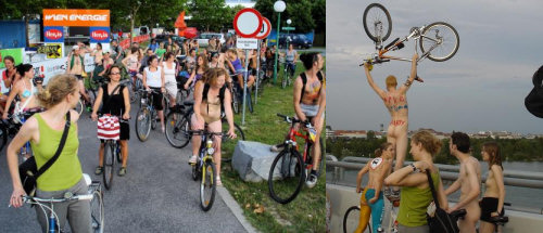 Naked Bike Ride © Critical Mass