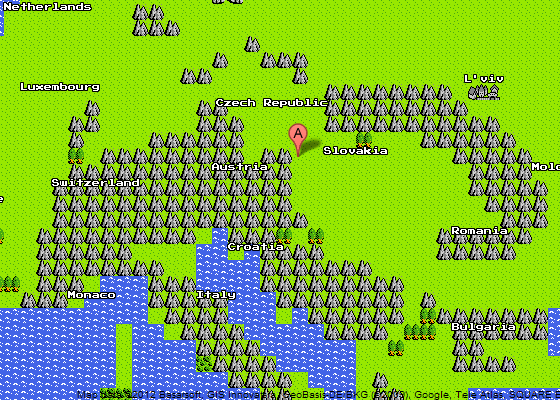 Google Maps 8-Bit Quest Ansicht
