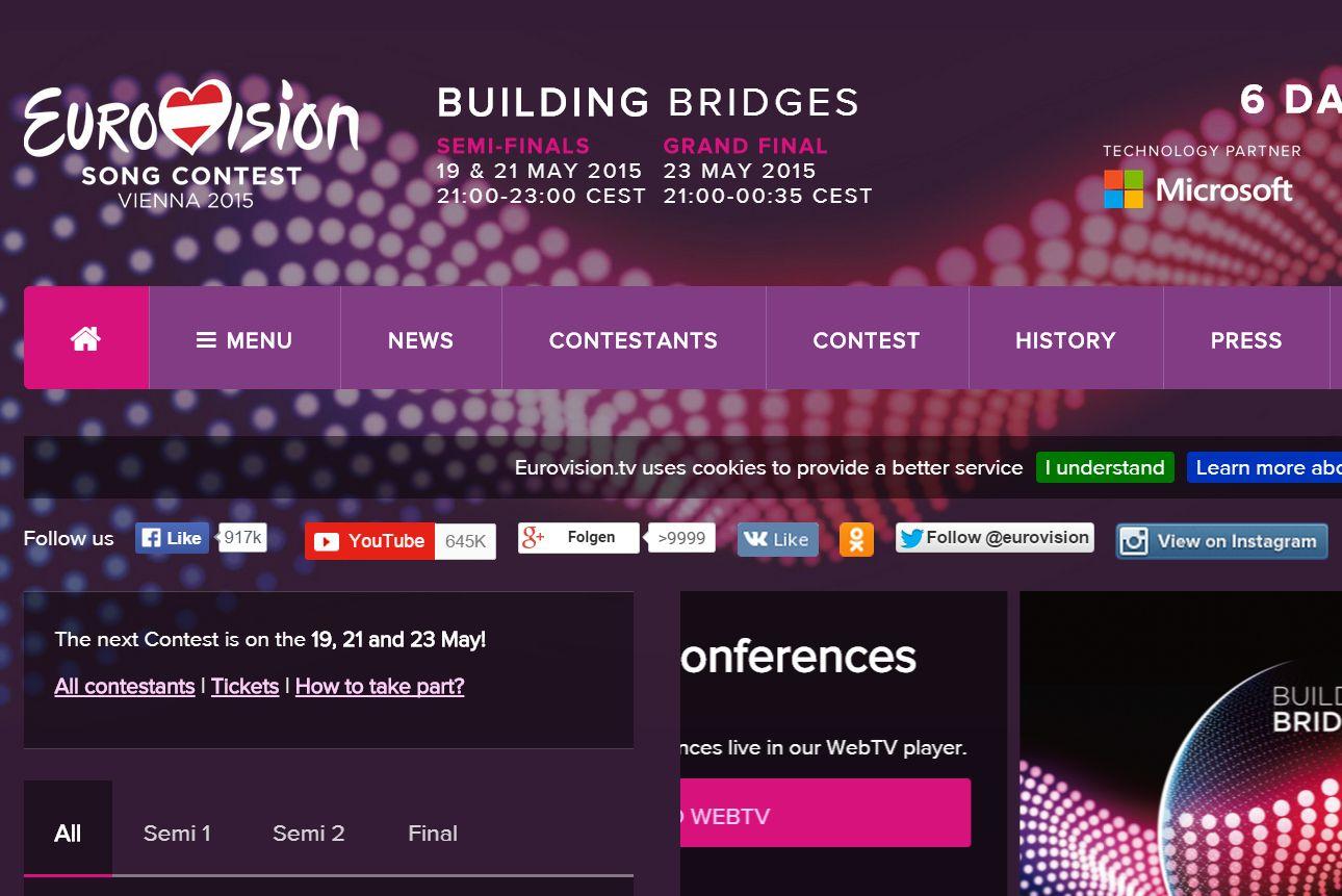 Overflow >9999 des Google-Plus-Buttons auf der Eurovision Song Contest Seite (2015-05-17)