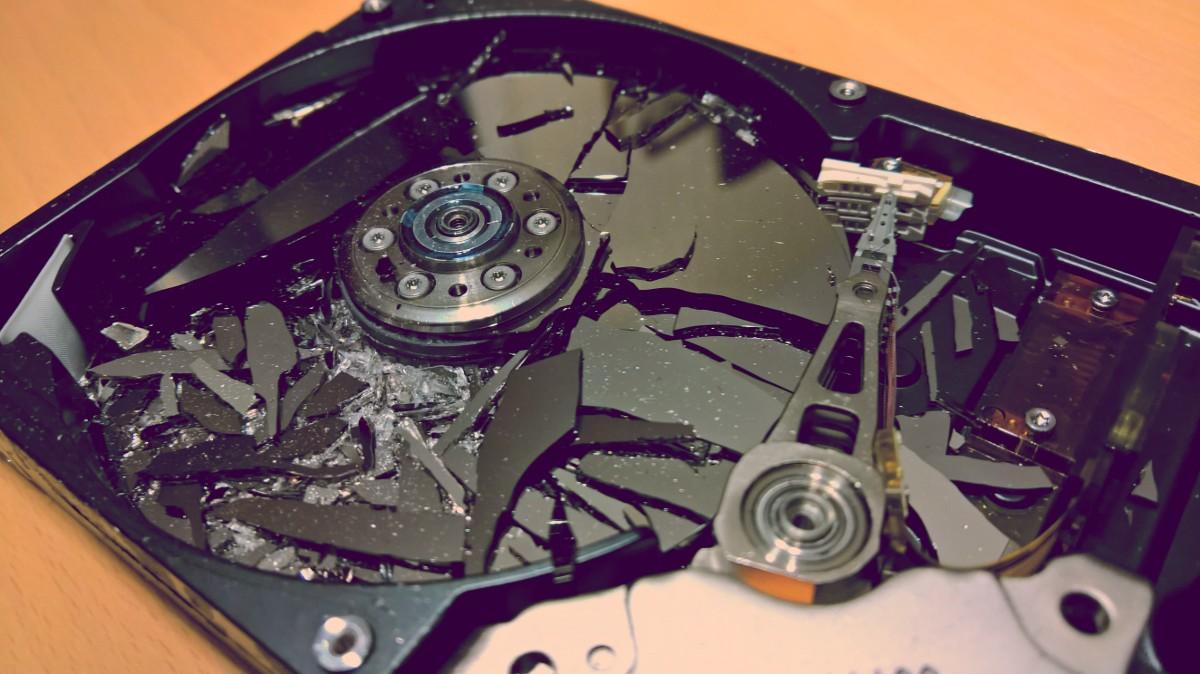 HDD-Festplatte löschen / schreddern / zerstören