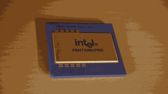 Intel Meltdown Artwork Pentium Pro CPU