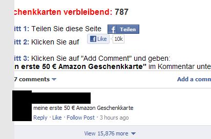 Facebook Like Button Clickjacking Betrug