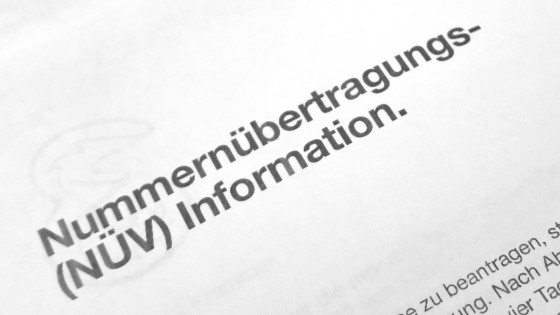Nummernübetragungs-Information (NÜV)