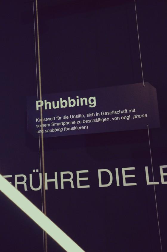 Phubbing @ Ausstellung MS Wissenschaft