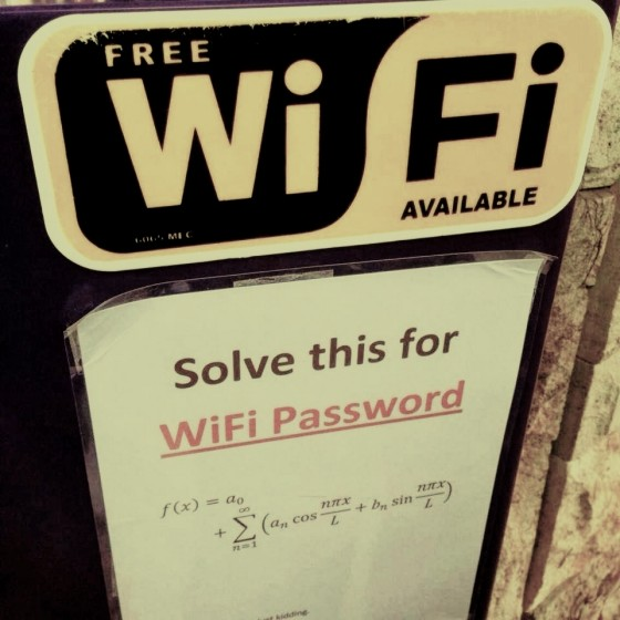 Stop Phubbing: Solve this for wifi password