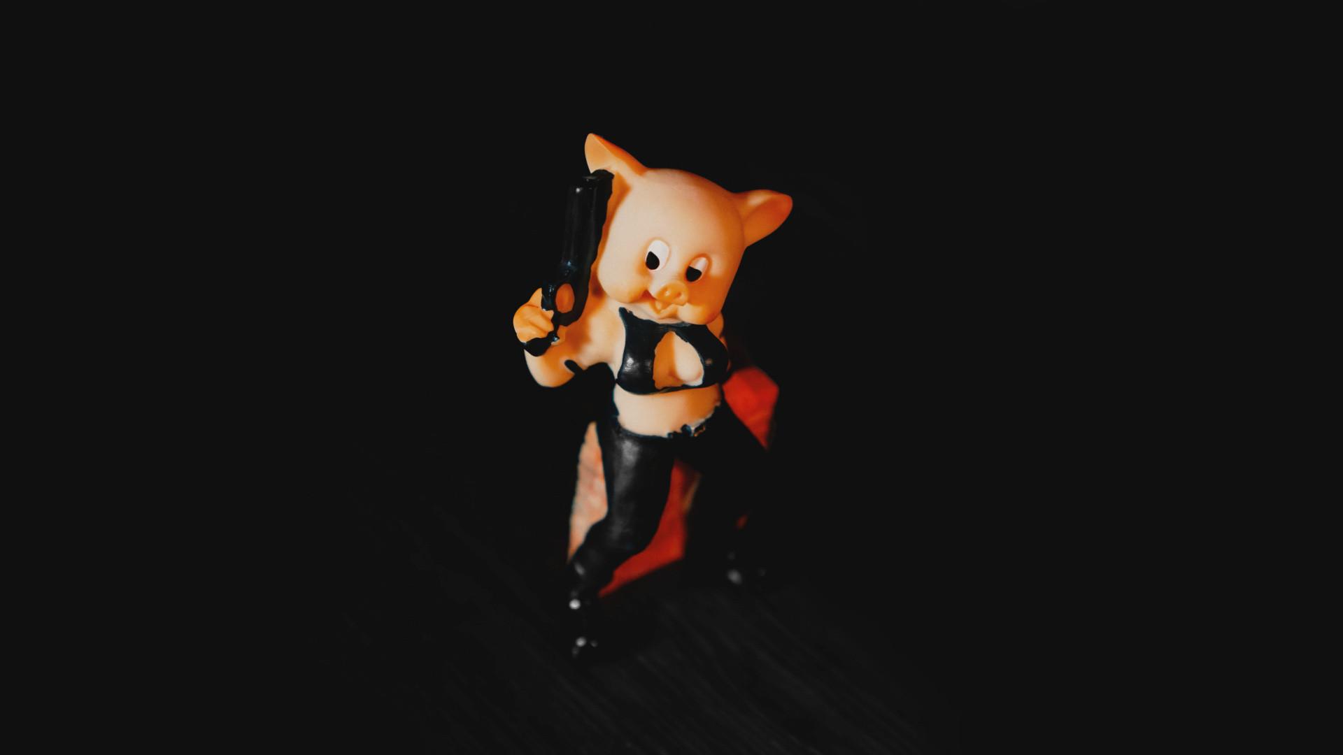 Miss Piggy Cowgirl Glücksbringer-Schweinchen