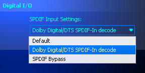 Dolby Digital/DTS SPDIF-In decode