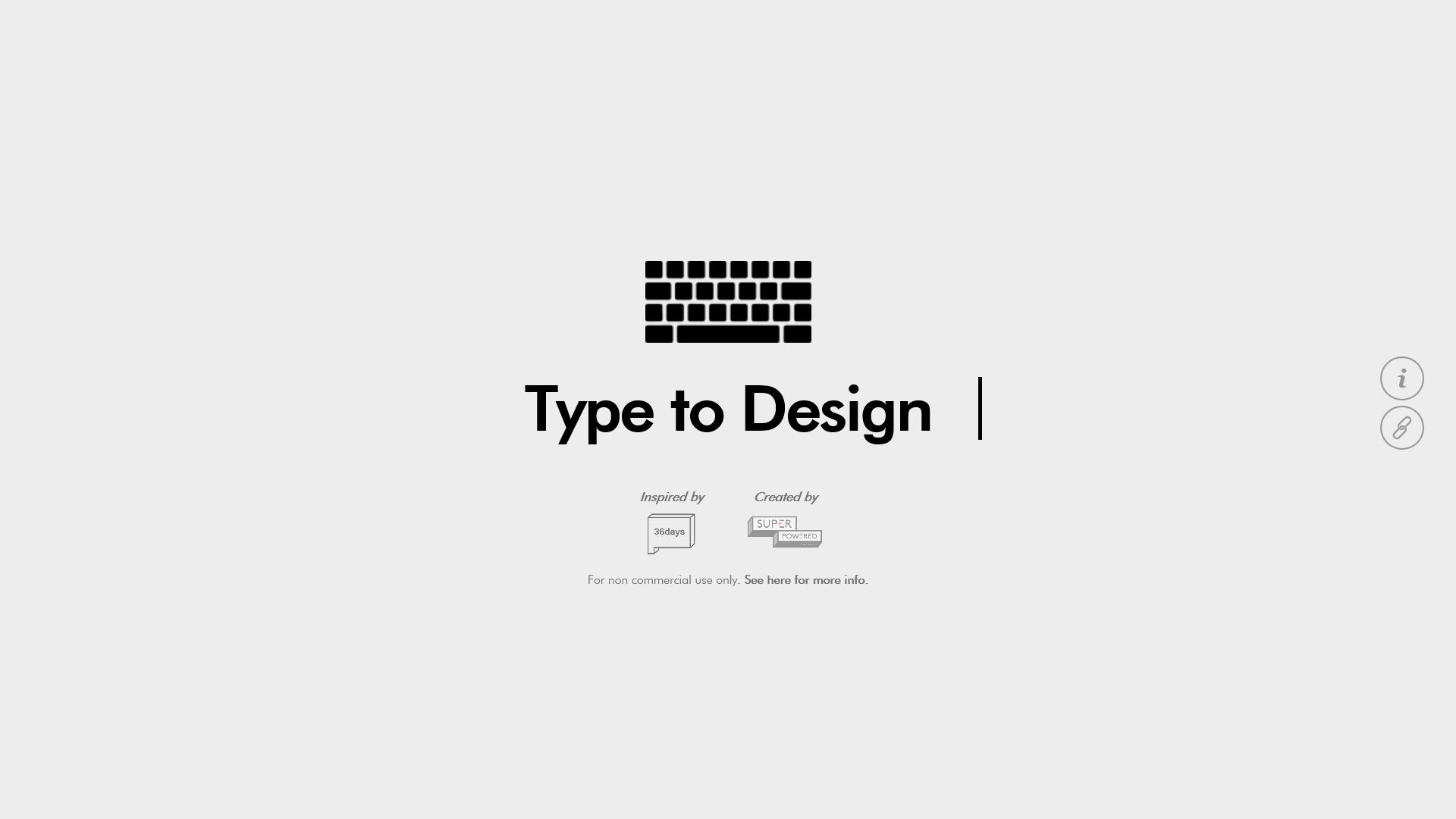 Screenshot typetodesign.com: Instagram generated font #36daysoftype