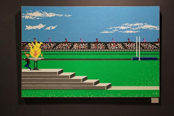 """""""Summer Games"""" von Veri Hanak Hammerl (Epyx 1984) @ We Love 8-Bit Ausstellung Wien"""