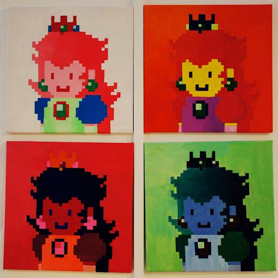 """""""Princess Peach"""" von Lei Cao @ We Love 8-Bit Ausstellung Wien"""