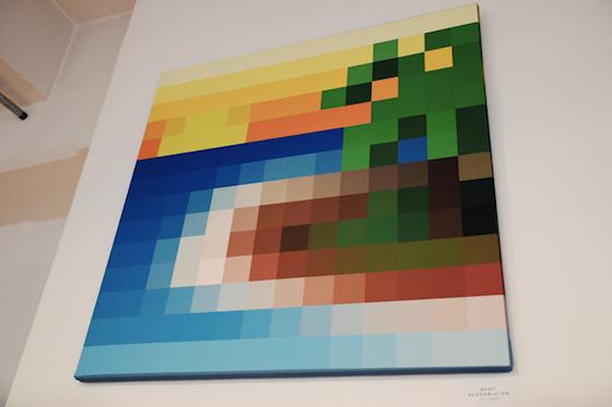 """""""Island"""" von Büro Augenbluten @ We Love 8-Bit Ausstellung Wien"""