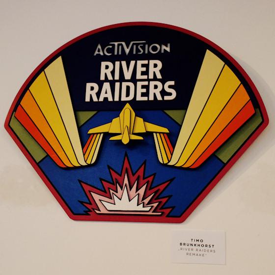 """""""River Raiders Remake"""" von Timo Brunkhorst @ We Love 8-Bit Ausstellung Wien"""