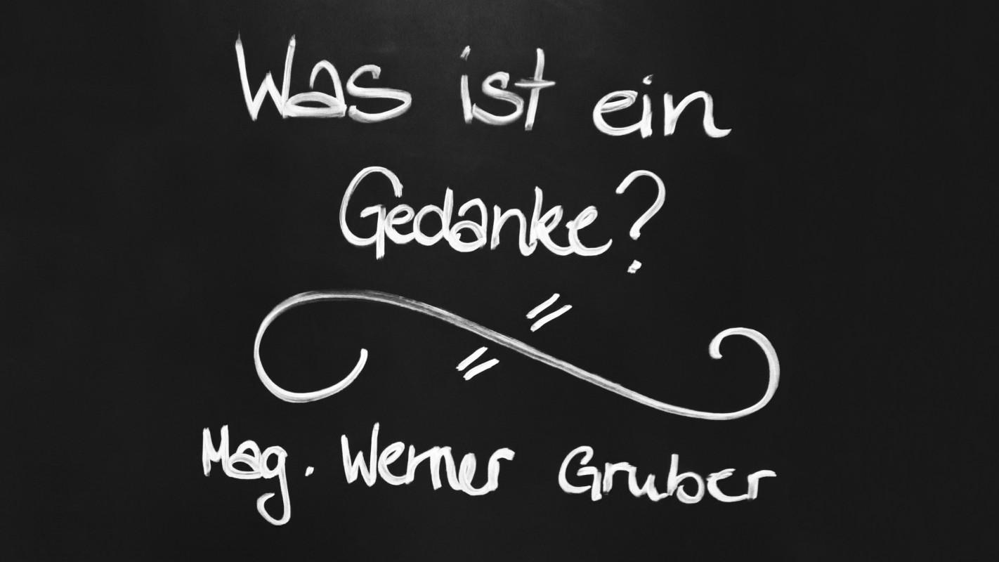 """Mag. Werner Gruber """"Was ist ein Gedanke"""" @ Vortrag Klub logischer Denker, Wien"""