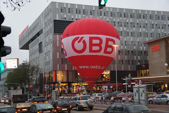 BahnhofCity Wien West: ÖBB Ballon