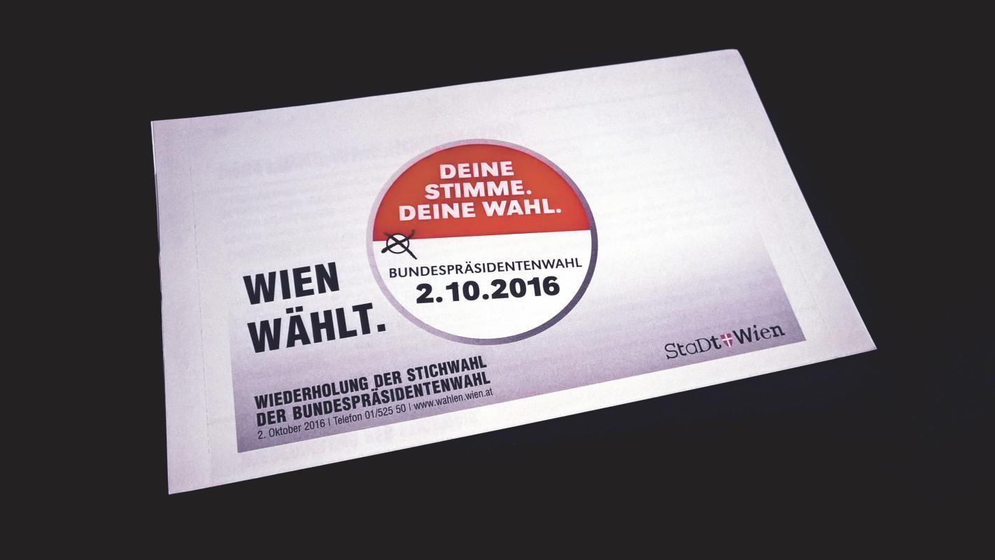 Wien wählt: Wiederholung der Stichwahl der Bundespräsidentenwahl 2.10.2016